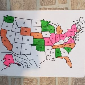 My daughter is having fun keeping up with this map